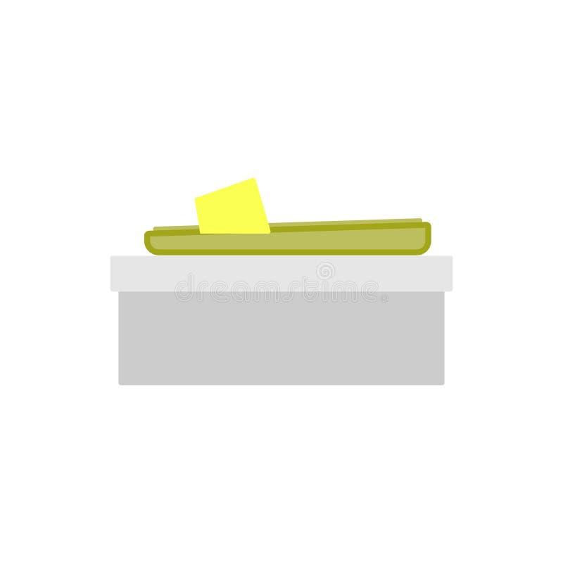 Gul häftklammermataresidosikt, profil Kvinnasko royaltyfri illustrationer