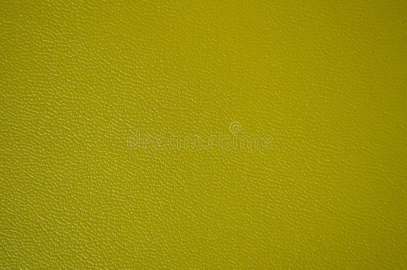Gul härlig lädertextur som bakgrund royaltyfria bilder