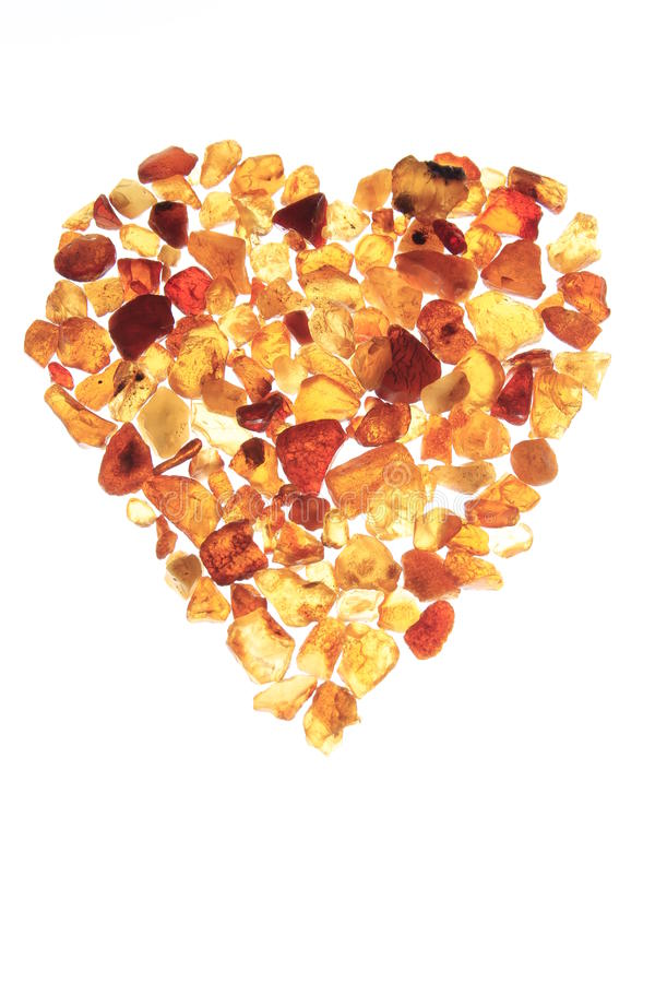 gul hjärta arkivbild