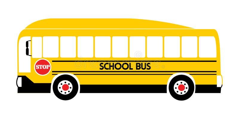 Gul illustrationvektor f?r skolbuss vektor illustrationer