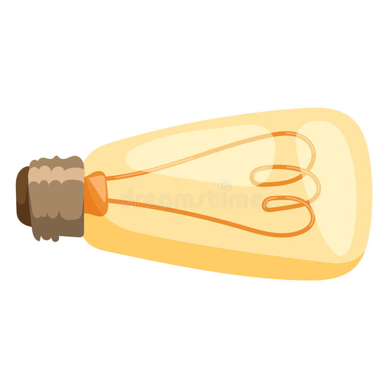 Gul inspiration för belysning för energi för makt för lampa för lightbulb för elektricitet för vektor för ljus kula illustration  vektor illustrationer