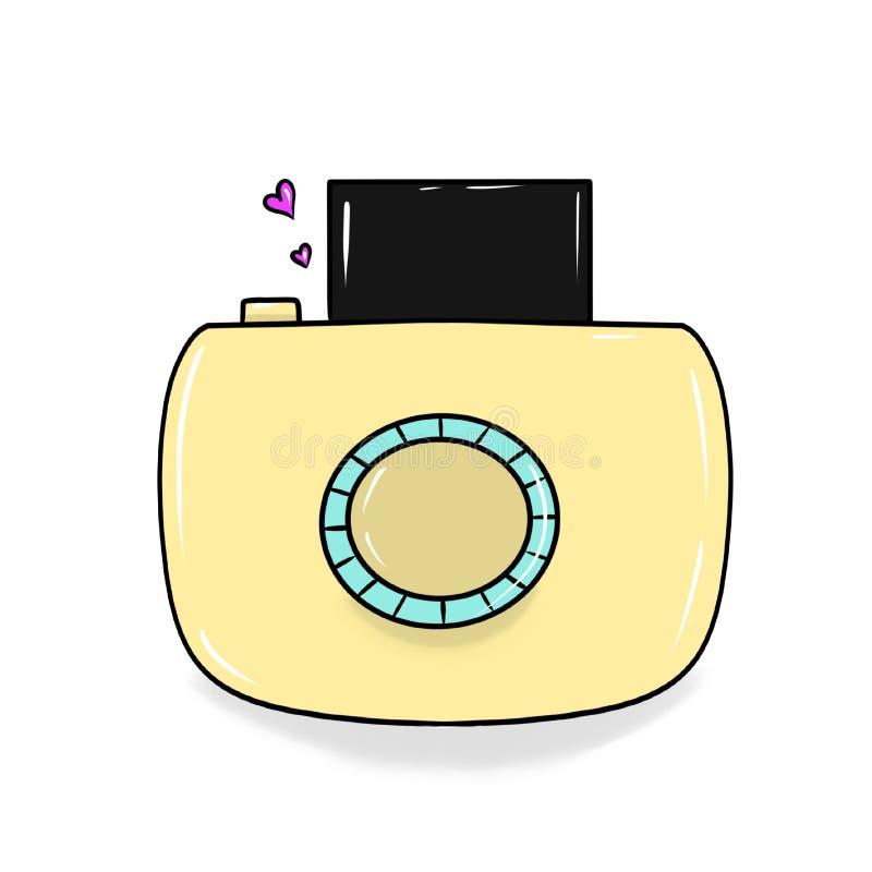 Gul kamera vektor illustrationer