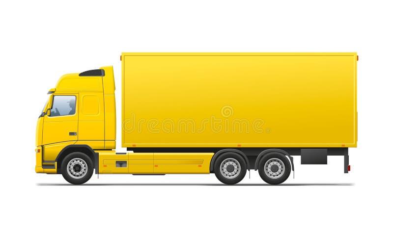 Gul kommersiell transport stock illustrationer