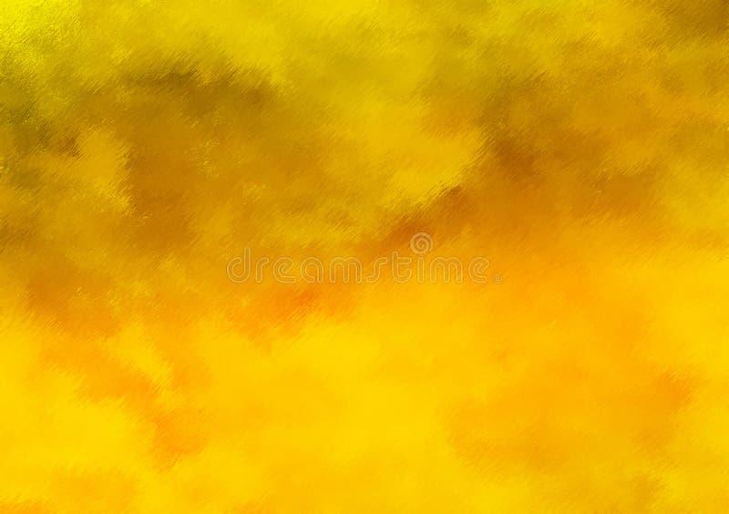 Gul lutning texturerad bakgrundstapetdesign royaltyfri bild