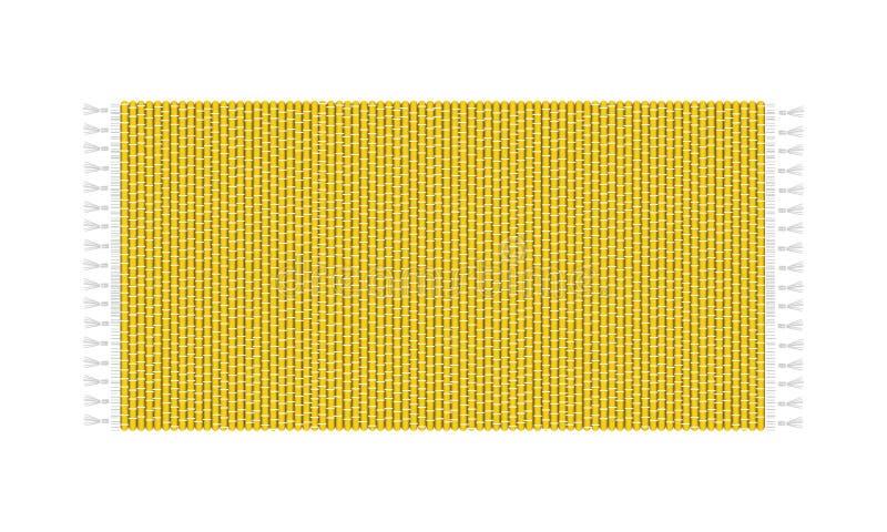 Gul mattillustration som isoleras på vit bakgrund Bästa sikt för filt stock illustrationer