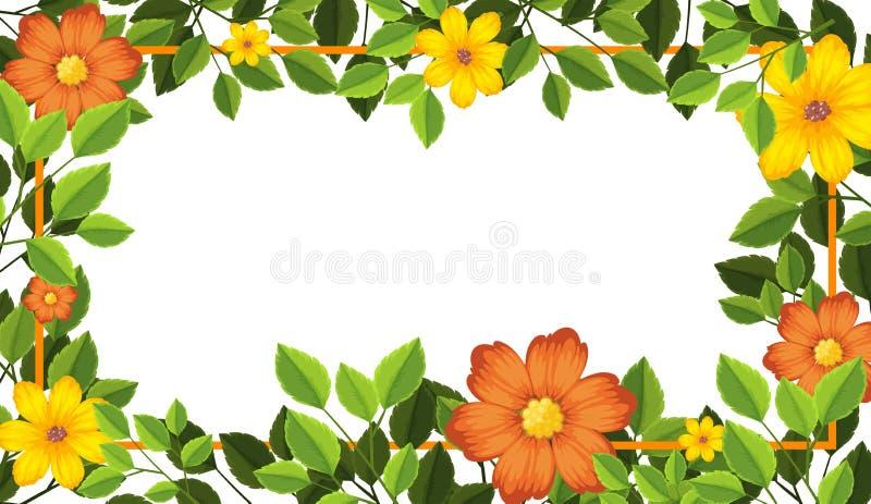 Gul och orange ram royaltyfri illustrationer