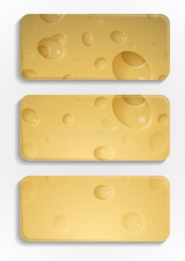 Gul ostbakgrund. stock illustrationer