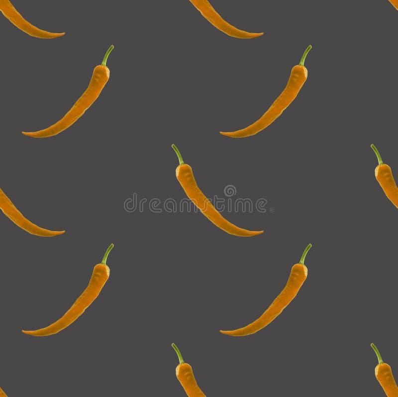 Gul paprika på grå bakgrund royaltyfri foto