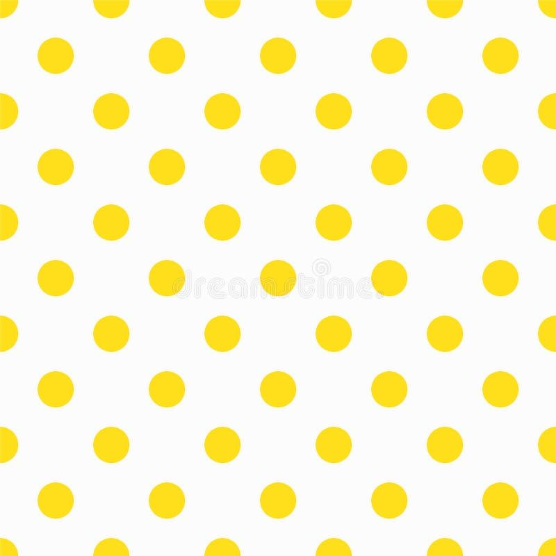 Gul polka Dot Pattern stock illustrationer
