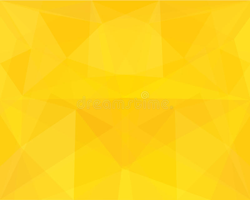 Gul polygonabstrakt begreppbakgrund stock illustrationer