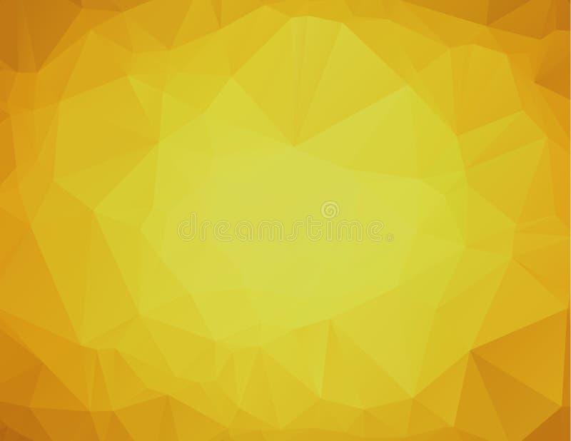 Gul polygonal bakgrund gul abstrakt mosaik för bakgrund vektor illustrationer