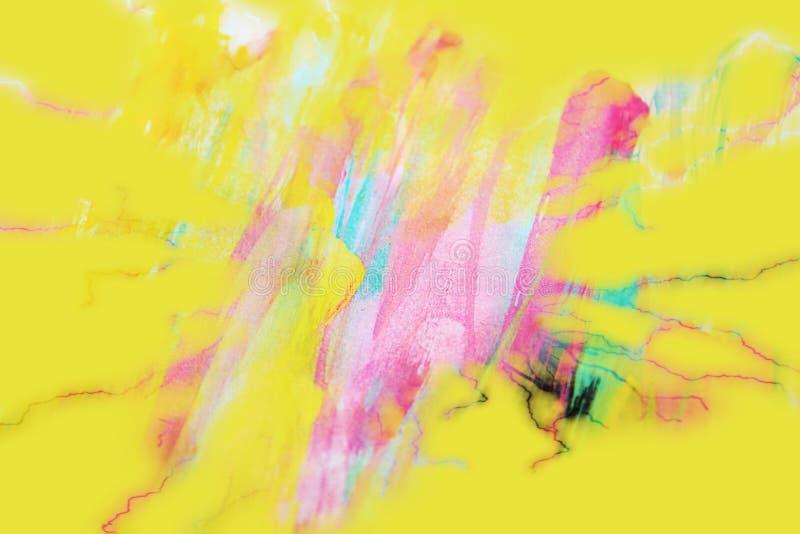 Gul rosa bakgrund för blå gräsplan på bränt papper vektor illustrationer