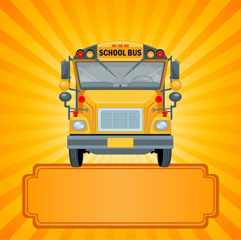 Gul skolbuss stock illustrationer