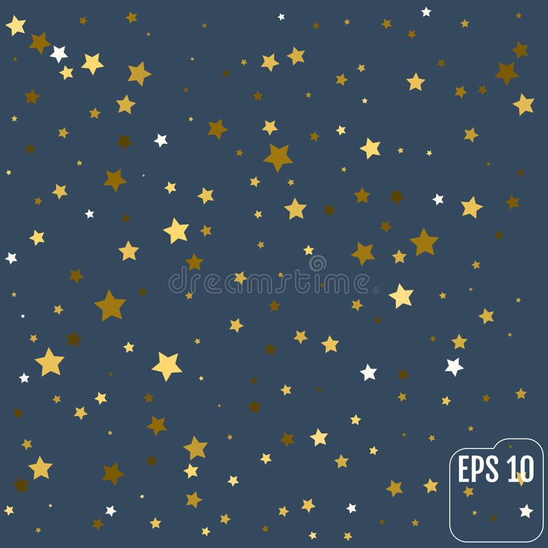Gul stjärnklar bakgrund för guld Bakgrund P för vektorkonfettistjärna vektor illustrationer