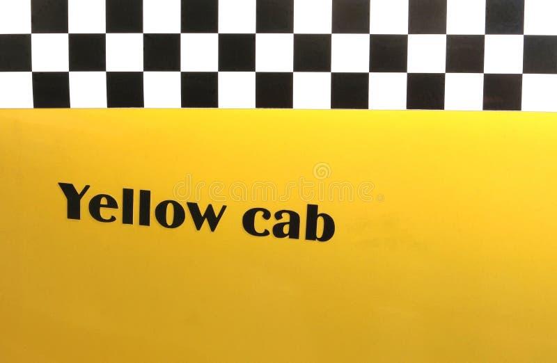 Gul taxi för bakgrund arkivfoton