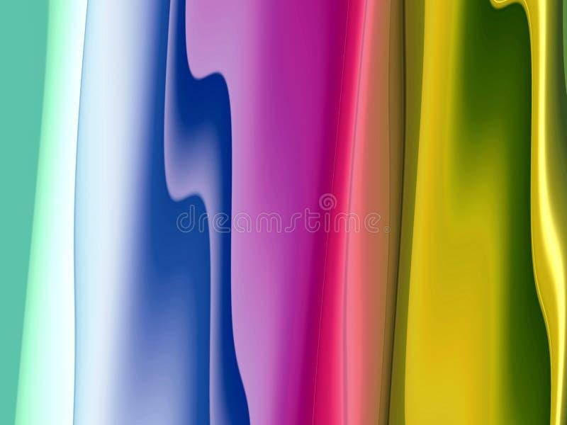 Gula blåa purpurfärgade guld- mjuka skuggor, geometrier, linjer bakgrund, abstrakta färgrika geometrier royaltyfri bild