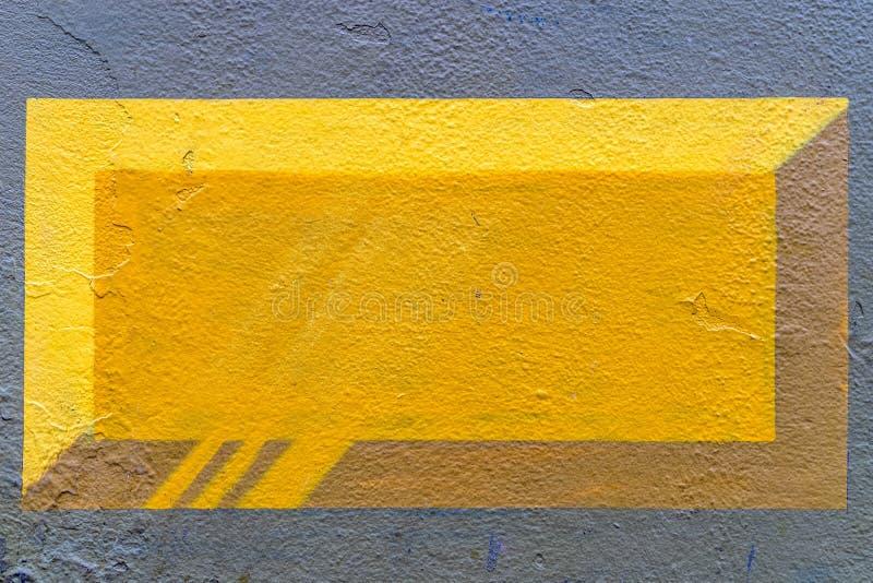 gula grafitti för tegelsten 3d - högkvalitativ textur/bakgrund royaltyfri foto