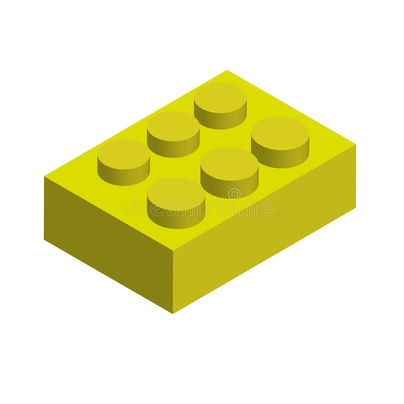 Gula Lego stock illustrationer