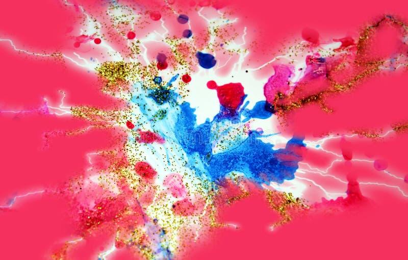Gula linjer för färgrik röd guld- regnbåge, pastellfärgade toner royaltyfria bilder
