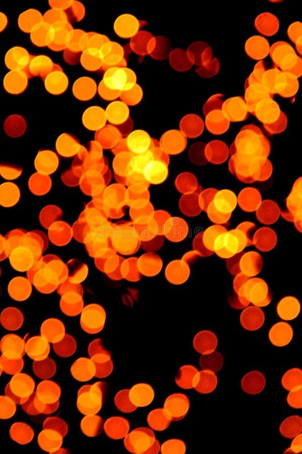 Gula oskarpa lampor royaltyfria foton