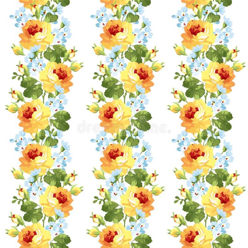 Gula rosor för härlig blom- modell stock illustrationer