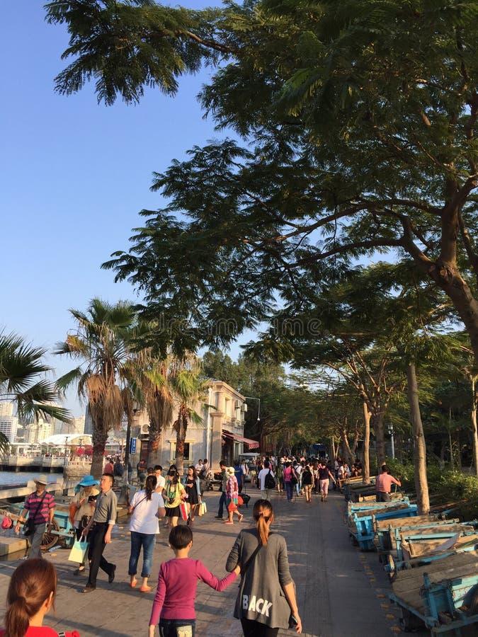 Gulangyu com um por do sol bonito imagem de stock royalty free