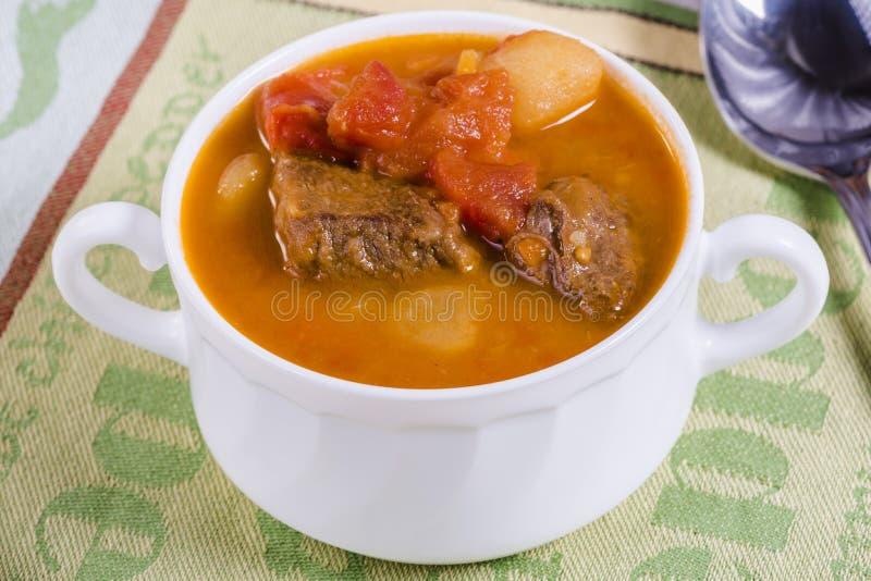 gulaschsoppa arkivbild