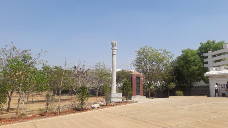 Gulbarga India il tempio di Buddha fotografia stock libera da diritti
