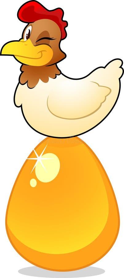 guld- ägg stock illustrationer