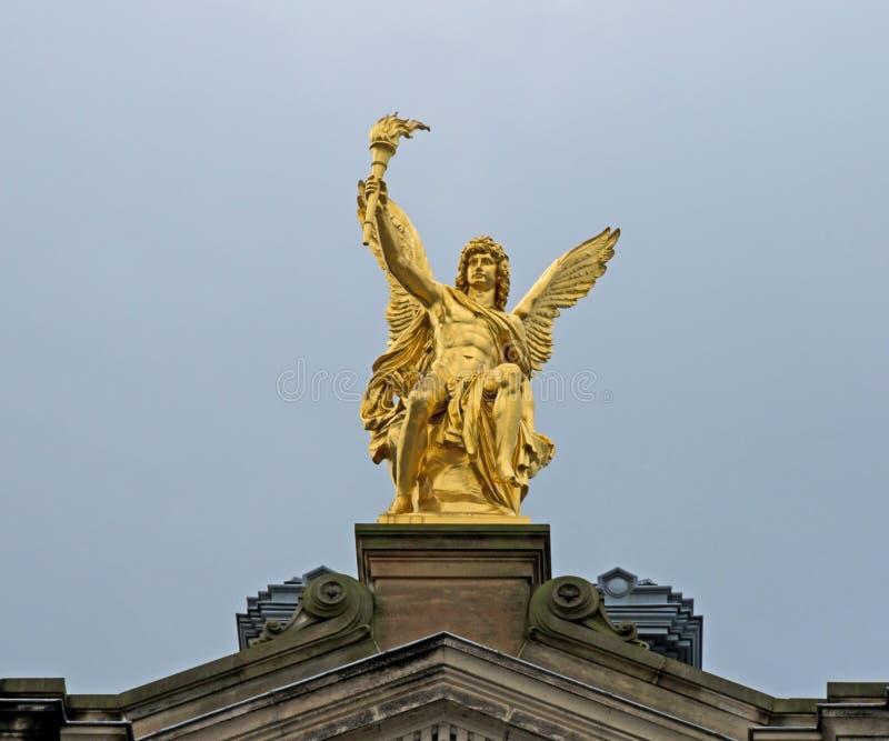 Guld- ängel royaltyfri fotografi