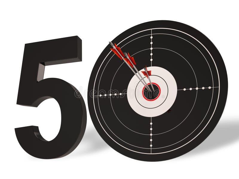 Guld- årsdag för 50 målshower femtio år vektor illustrationer