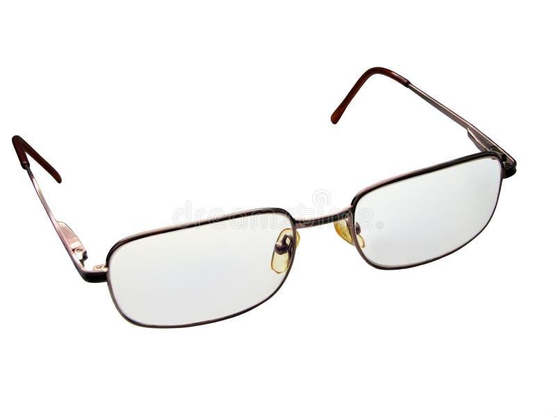 Guld- ögonexponeringsglas för att läsa och datorarbete fotografering för bildbyråer