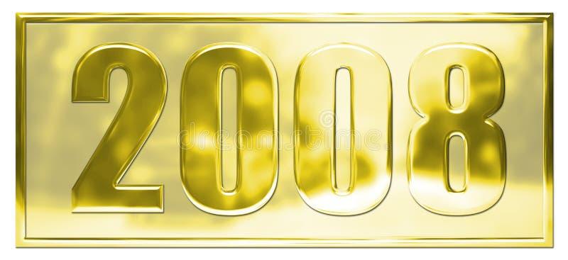 Download Guld 2008 stock illustrationer. Illustration av datum - 3525071