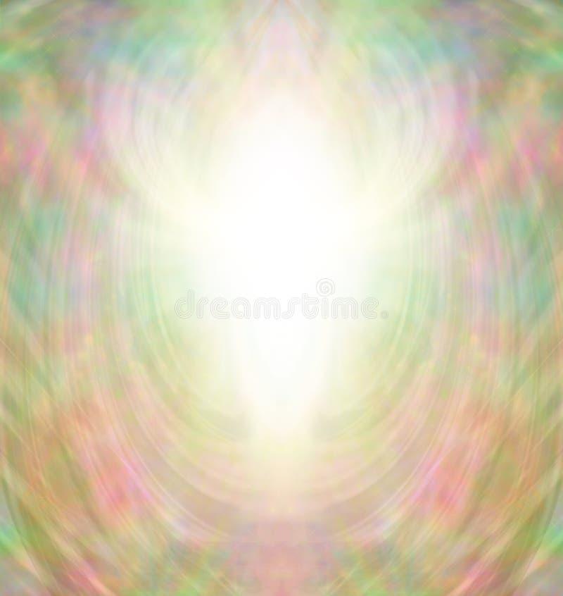 Guld- Angel Aura Background stock illustrationer