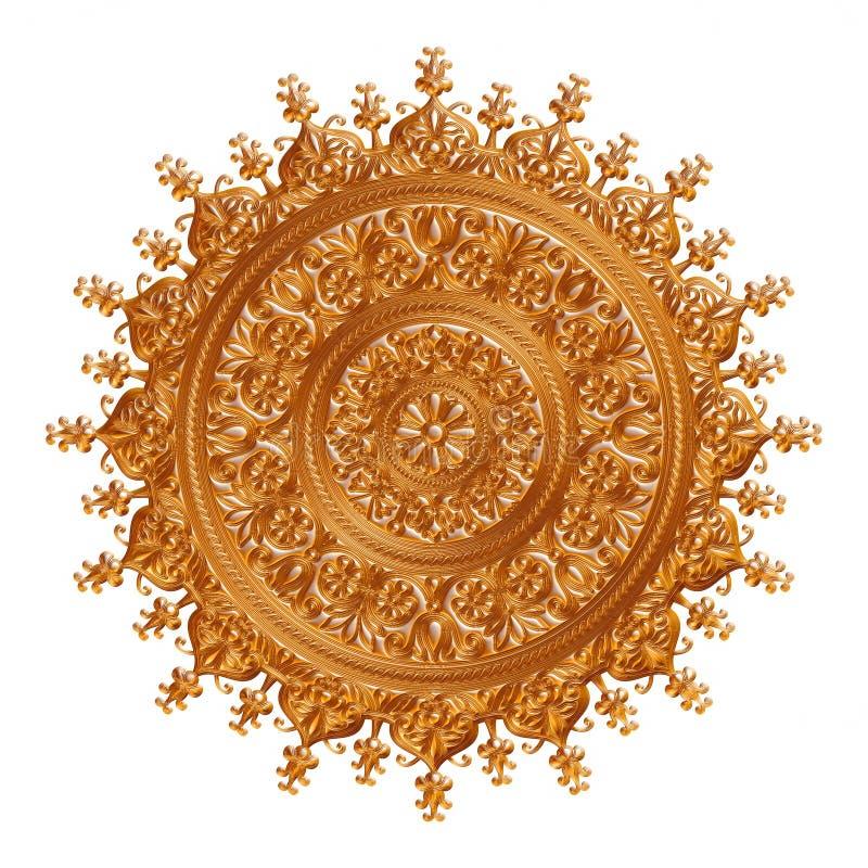 Guld- antik hänge som isoleras på vit vektor illustrationer