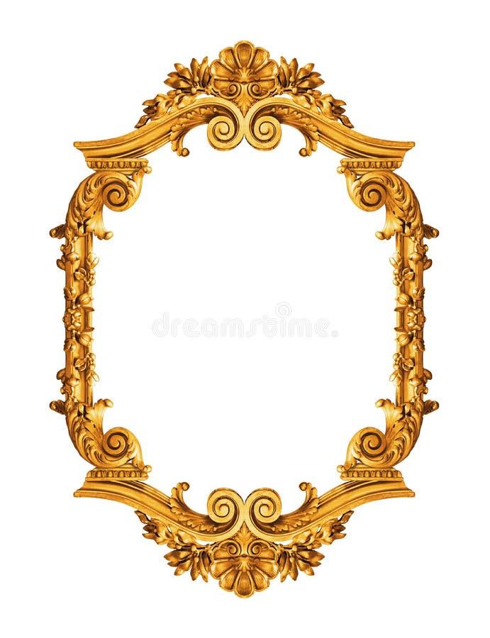 guld- antik ram arkivfoton