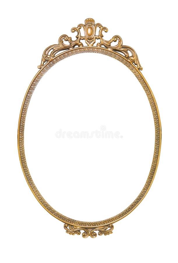 guld- antik ram royaltyfri foto