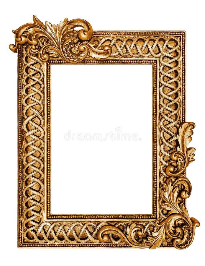 guld- antik ram royaltyfria bilder