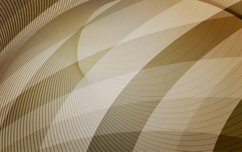 Guld, apelsin och bruntbakgrund med diagonala band horizont stock illustrationer
