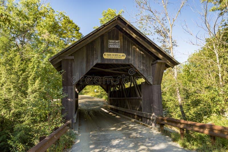 Guld- bäck för dold bro i Stowe Vermont royaltyfria bilder