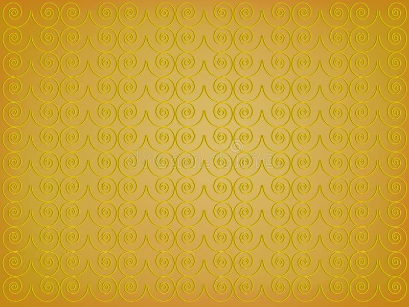 guld- bakgrund royaltyfri illustrationer