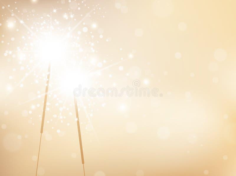Guld- bakgrund för ferietomteblossen vektor illustrationer