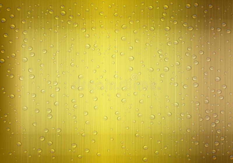 Guld- bakgrund för vattendroppe vektor illustrationer
