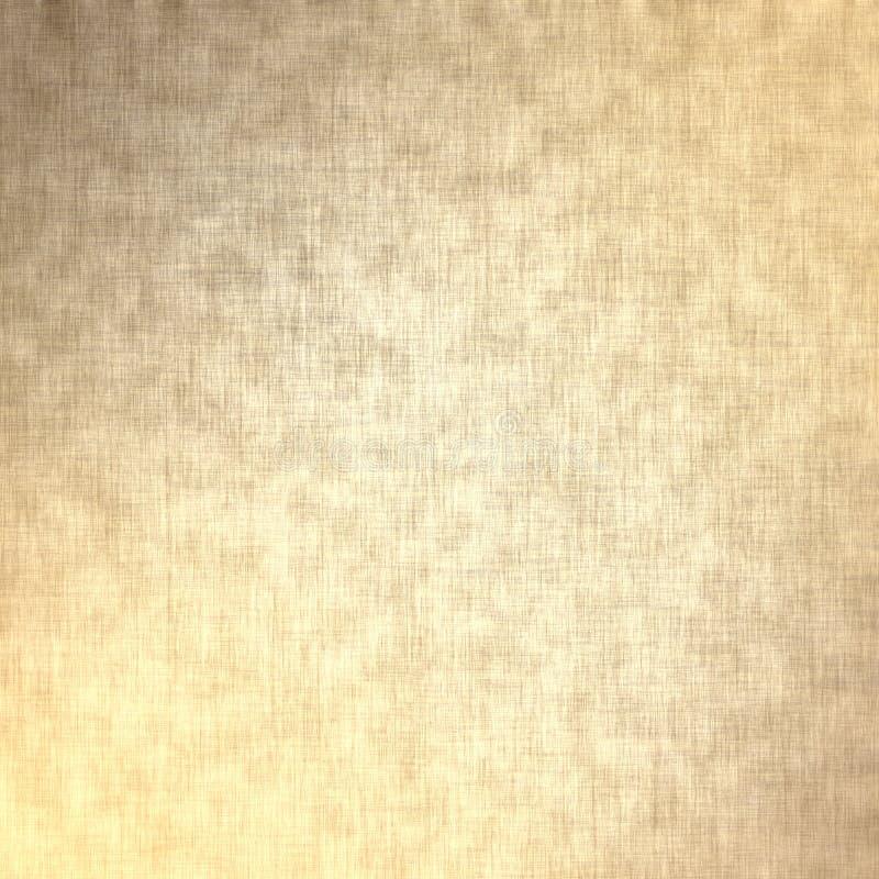Guld- bakgrund, linnetextur royaltyfri foto