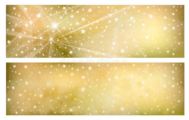 Guld- bakgrunder för vektor stock illustrationer