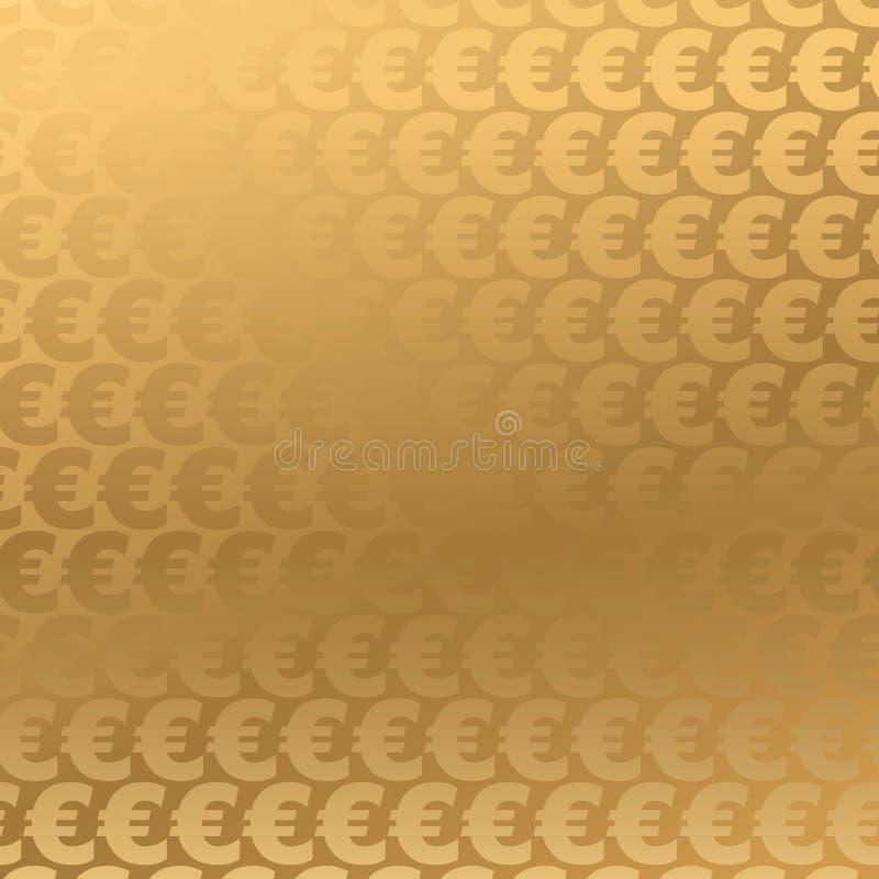 guld- bakgrundseuro vektor illustrationer