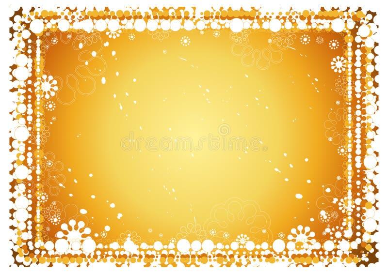 guld- bakgrundsjul stock illustrationer