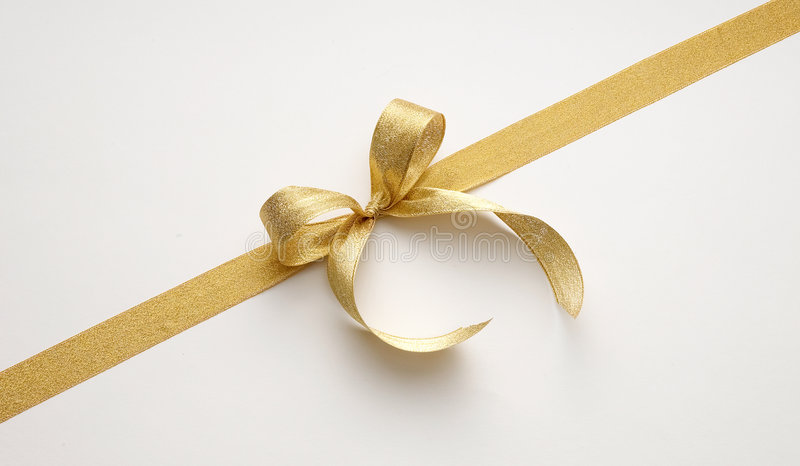 guld- band arkivfoto