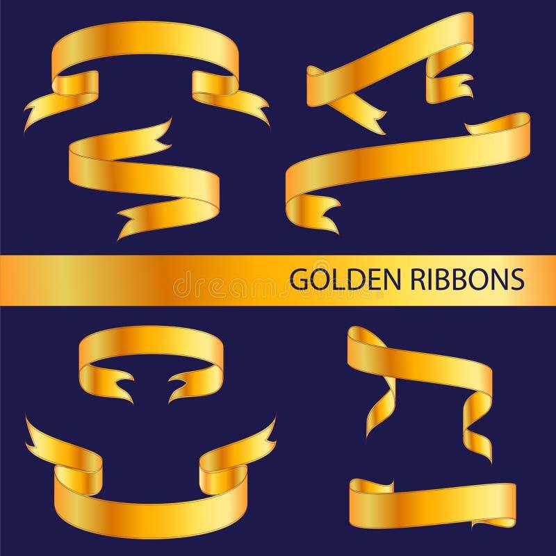 guld- band vektor illustrationer