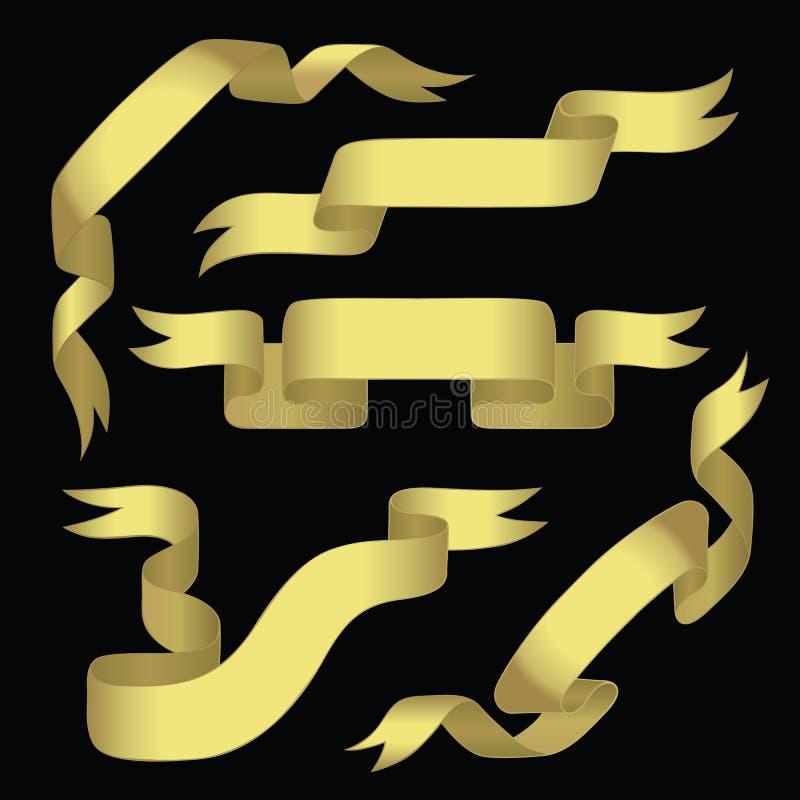 guld- baner vektor illustrationer